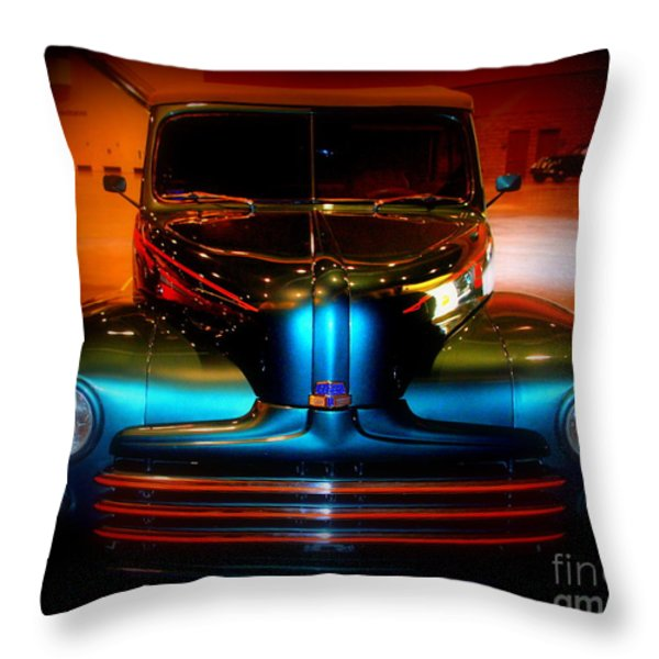 Collector Car Throw Pillow by Susanne Van Hulst