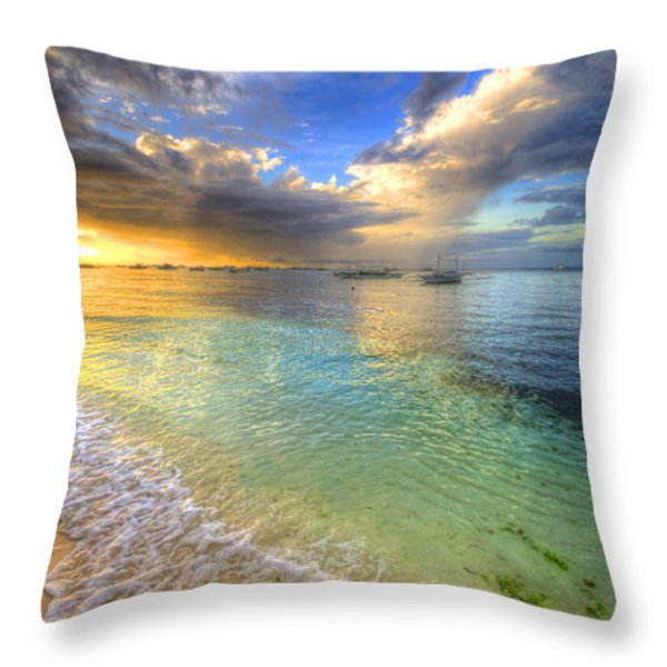 Color Splash Throw Pillow by Yhun Suarez