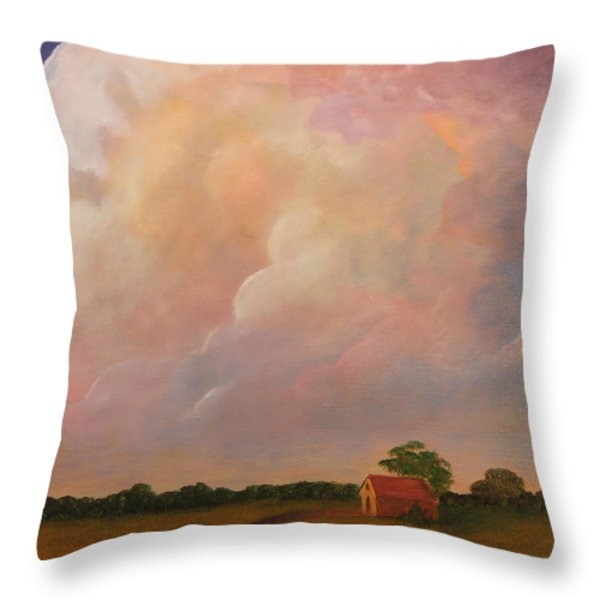Color Storm Throw Pillow by Janet Greer Sammons