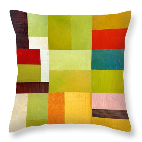 Color Study Abstract 9.0 Throw Pillow by Michelle Calkins