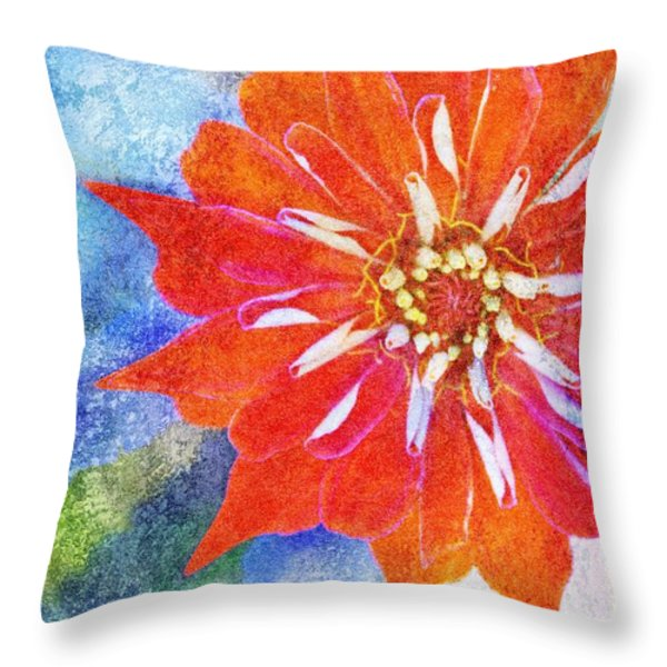 Color Symphony III Throw Pillow by Brett Pfister