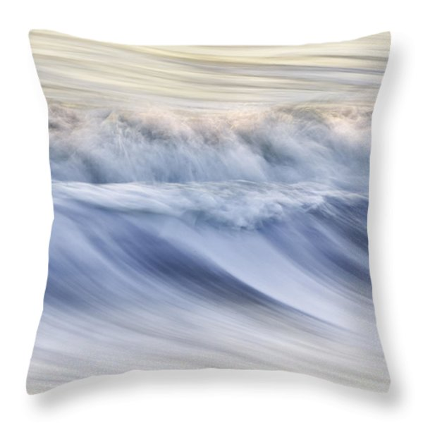Color Wave III Throw Pillow by Rob Travis
