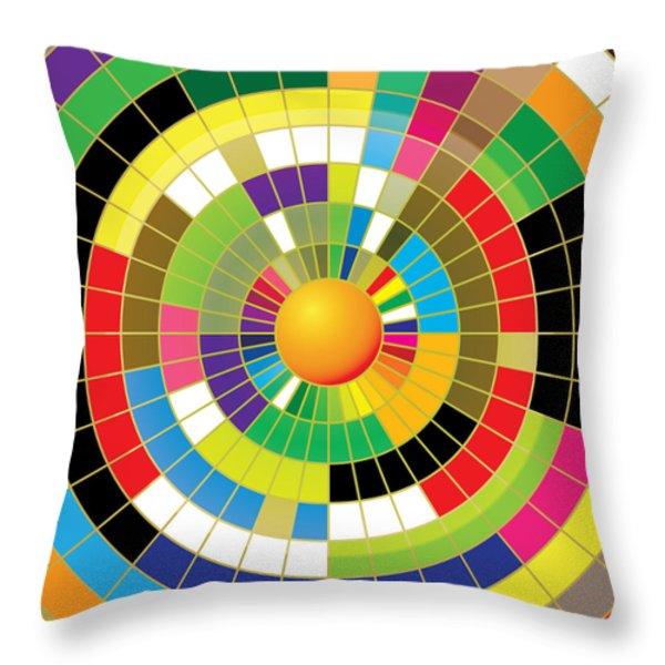 Color Wheel Throw Pillow by Gary Grayson