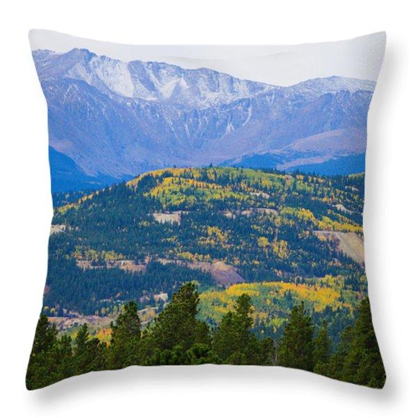 Colorado Rocky Mountain Autumn View Throw Pillow by James BO  Insogna