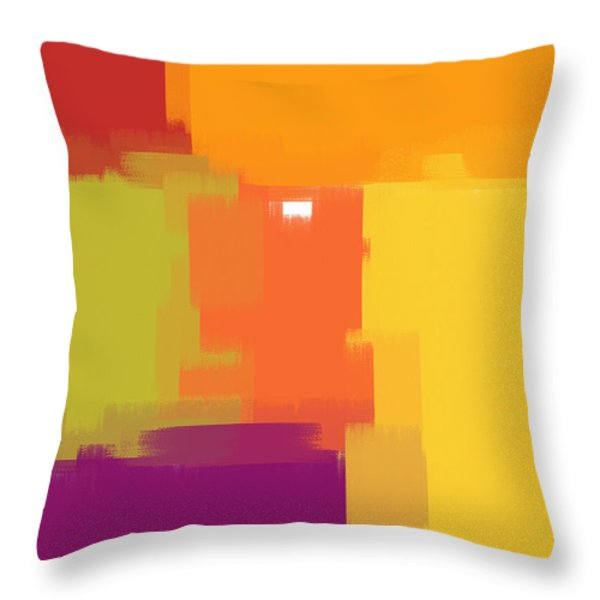 Colorblock Throw Pillow by Heidi Smith