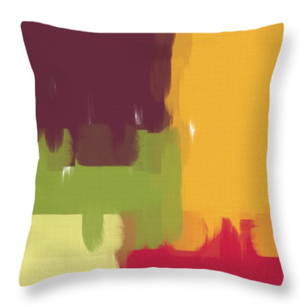 Colorblock Winter Throw Pillow by Heidi Smith