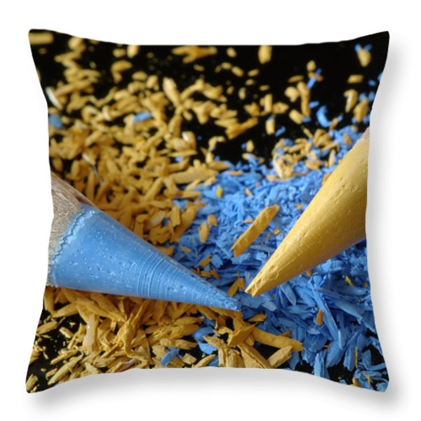Colored Pencils Throw Pillow by Frank Tschakert