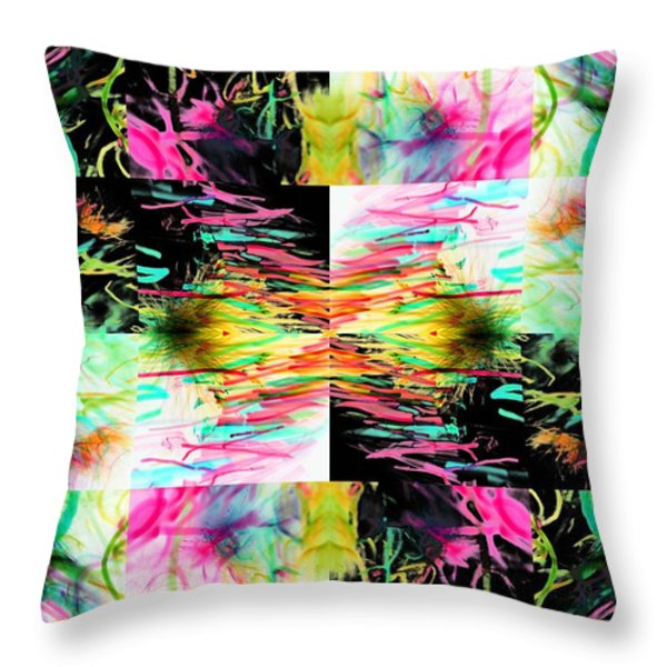 Colored Tubes Throw Pillow by Sumit Mehndiratta
