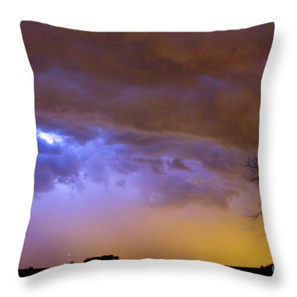 Colorful Cloud to Cloud Lightning Stormy Sky Throw Pillow by James BO  Insogna