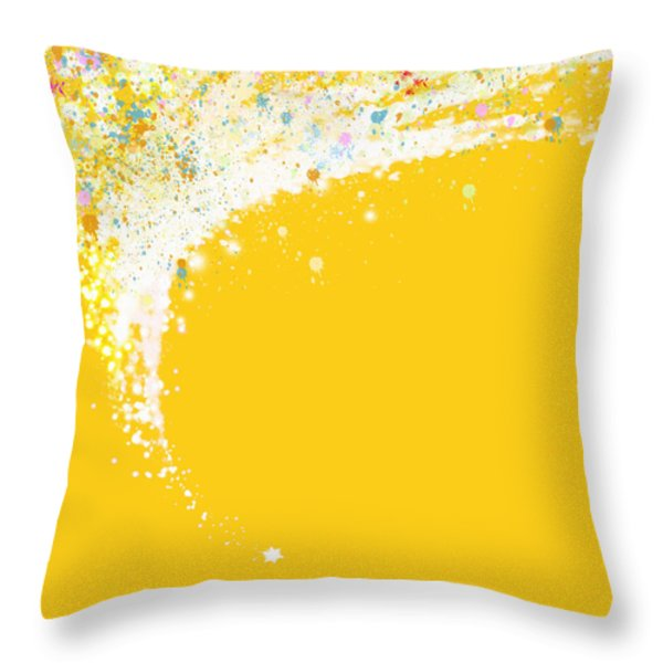 Colorful Curved Throw Pillow by Setsiri Silapasuwanchai