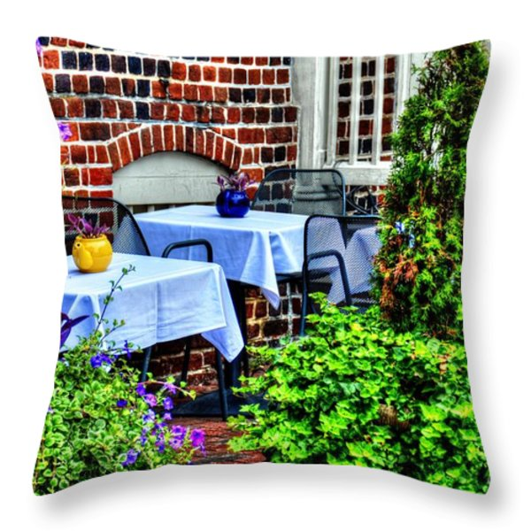 Colorful Dining Throw Pillow by Debbi Granruth