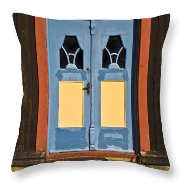 Colorful Entrance Throw Pillow by Heiko Koehrer-Wagner
