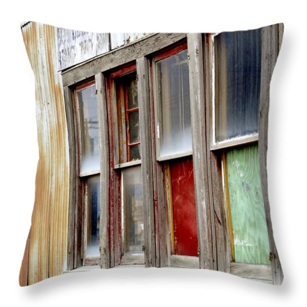Colorful Windows Throw Pillow by Fran Riley