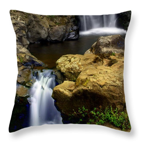 Columba River Gorge Falls 2 Throw Pillow by Marty Koch