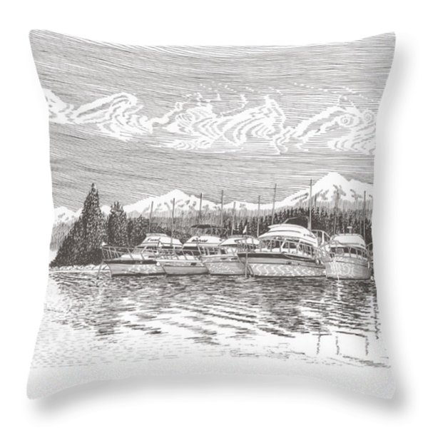 Columbia River Raft Up Throw Pillow by Jack Pumphrey