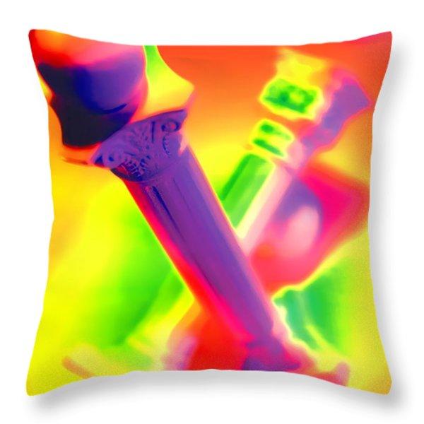 Columns  Throw Pillow by Mauro Celotti