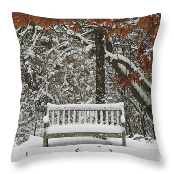 Come Sit Awhile Throw Pillow by Inspired Nature Photography By Shelley Myke