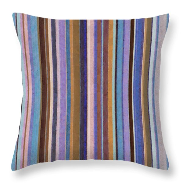 Comfortable Stripes ll Throw Pillow by Michelle Calkins
