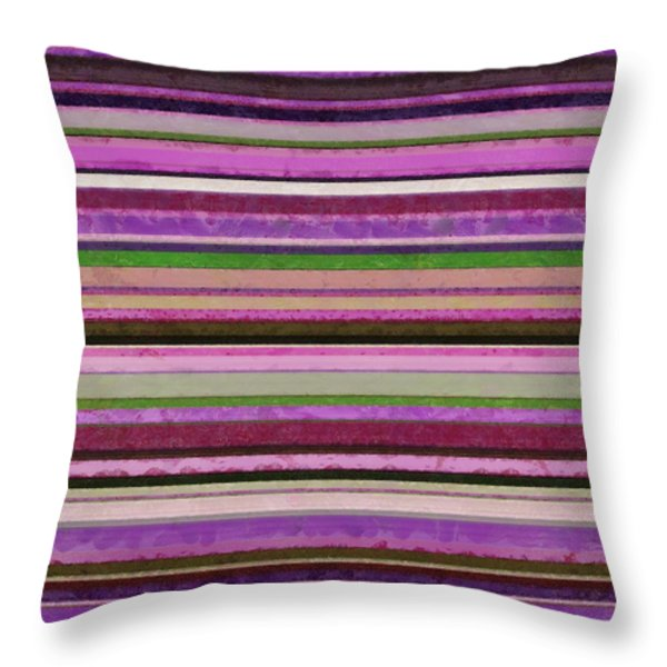 Comfortable Stripes lll Throw Pillow by Michelle Calkins