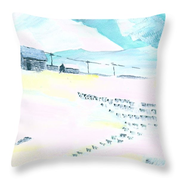 Coming Home Throw Pillow by Anil Nene