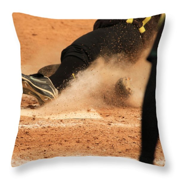 Coming Home With A Slide Throw Pillow by Laddie Halupa