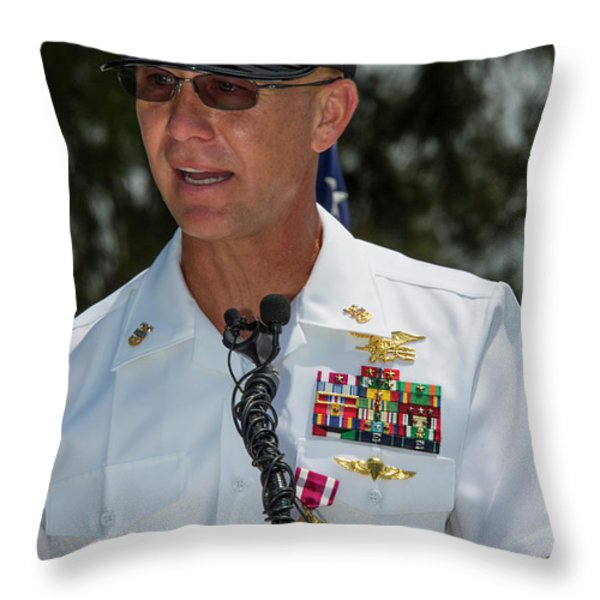 Command Master Chief Bryan Yarbro Throw Pillow by Michael Wood
