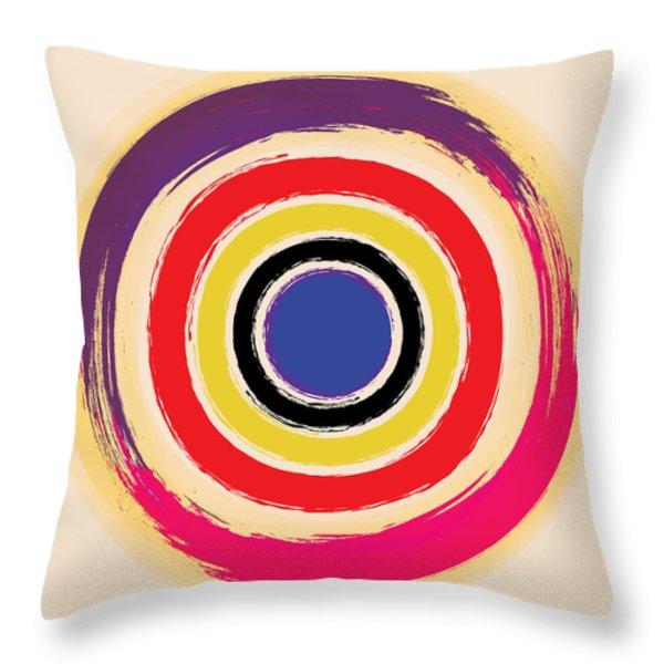 Compass Brush Throw Pillow by Gary Grayson