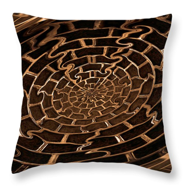 Complicated Journey Throw Pillow by Kristin Elmquist
