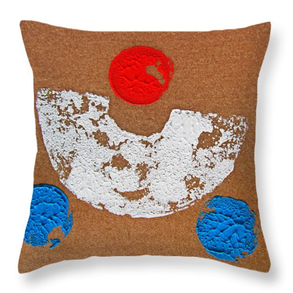 Composition Auto Throw Pillow by Charles Stuart