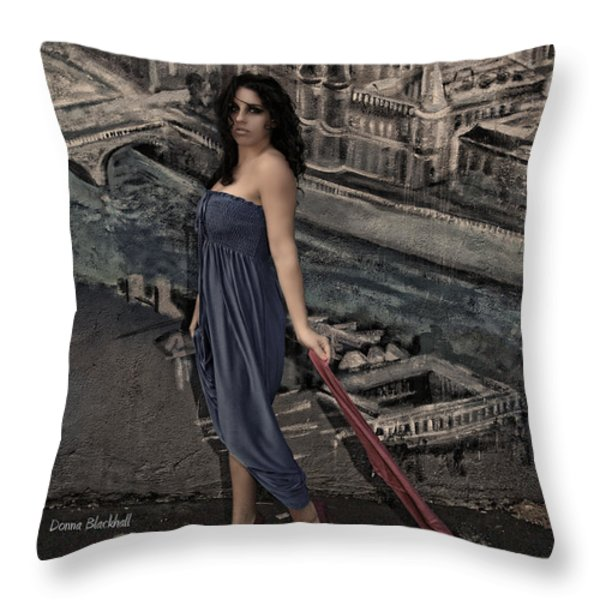 Concrete Velvet 1 Throw Pillow by Donna Blackhall