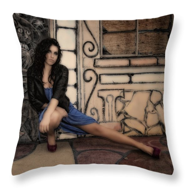 Concrete Velvet 7 Throw Pillow by Donna Blackhall