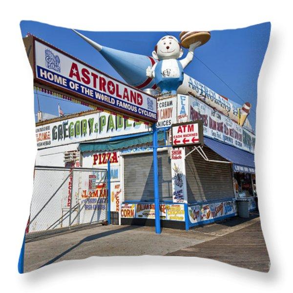 Coney Island Memories 11 Throw Pillow by Madeline Ellis