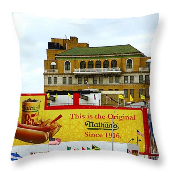 Coney Island Memories 9 Throw Pillow by Madeline Ellis
