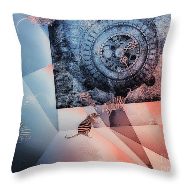 Confusion Throw Pillow by Jutta Maria Pusl
