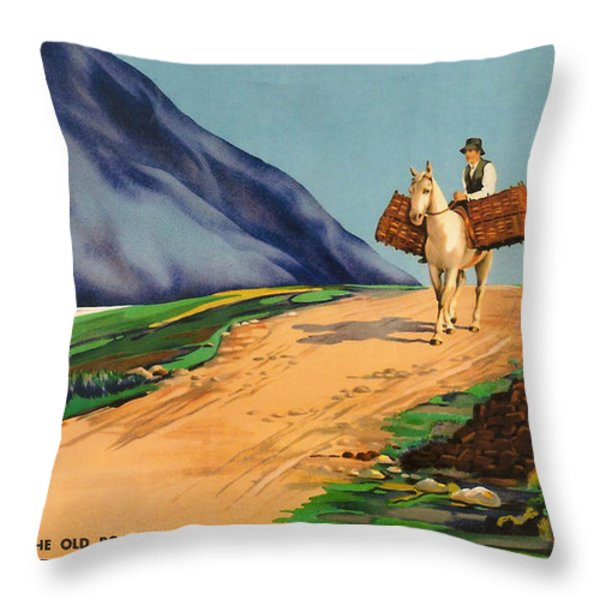 Connemara - Ireland Throw Pillow by Nomad Art And  Design