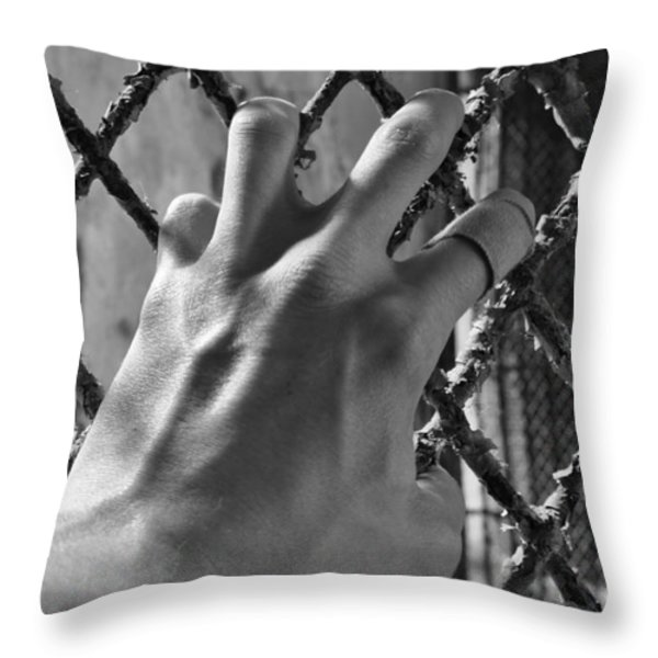 Contained Throw Pillow by Luke Moore