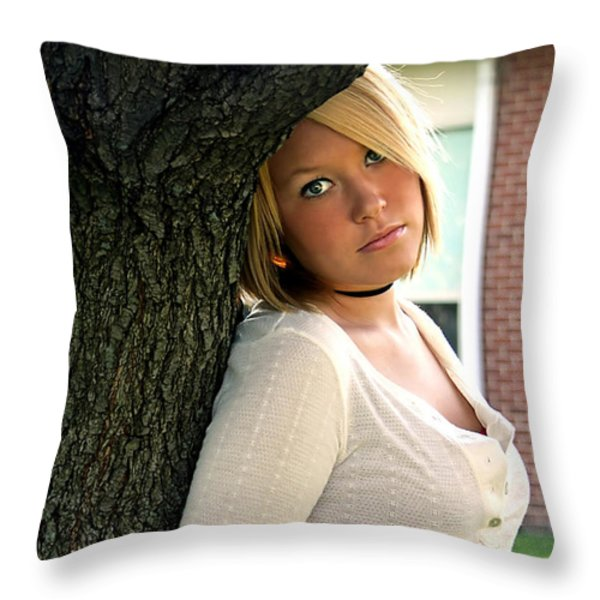 Contemplate The Moment Throw Pillow by Susan Stevenson