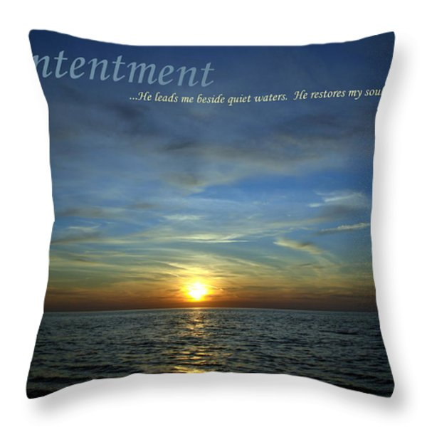 Contentment Throw Pillow by Michelle Calkins