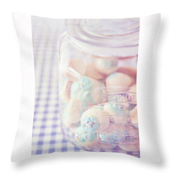 Cookie Jar Throw Pillow by Priska Wettstein