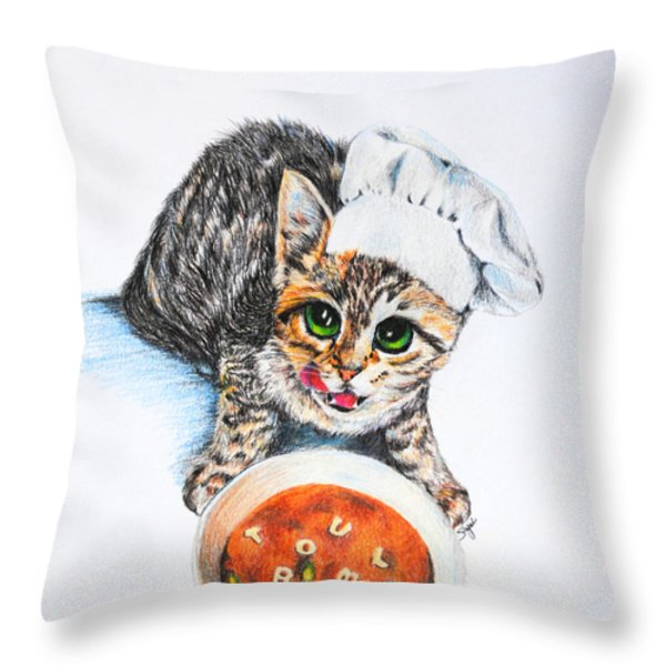 Cookin' Up Trouble Throw Pillow by Jai Johnson
