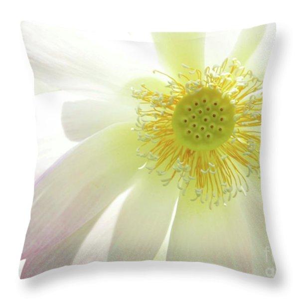 Cool Lotus Throw Pillow by Sabrina L Ryan