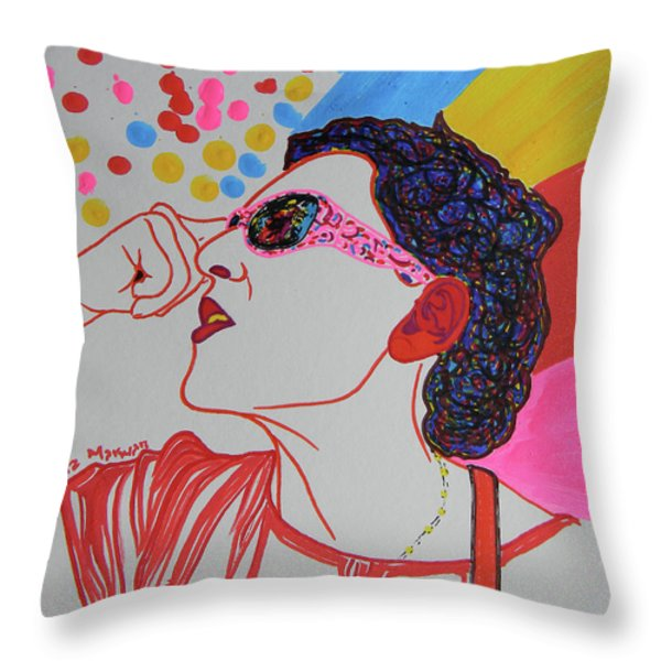 Coolpic Throw Pillow by Marwan George Khoury
