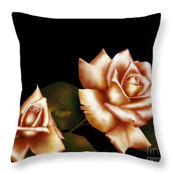 Coral Hue Throw Pillow by Cheryl Young