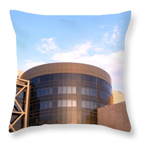 Corporate Architectural Design Throw Pillow by Yali Shi