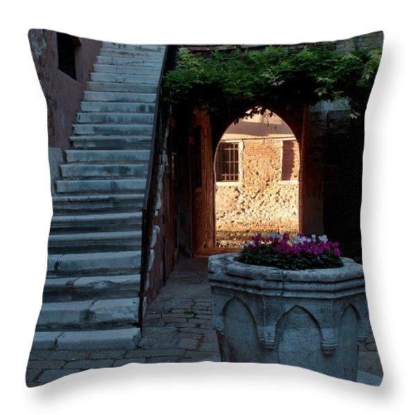 Corte Della Comare Throw Pillow by Heiko Koehrer-Wagner