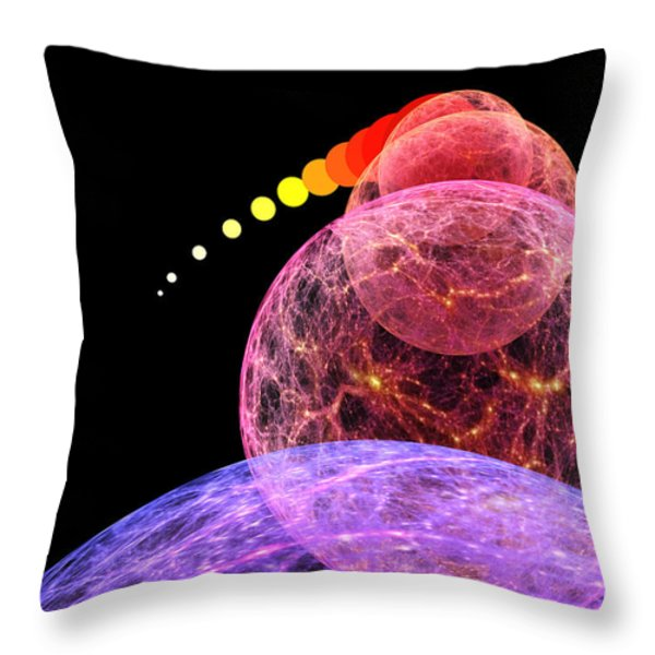 Cosmic Inflation Throw Pillow by Don Dixon