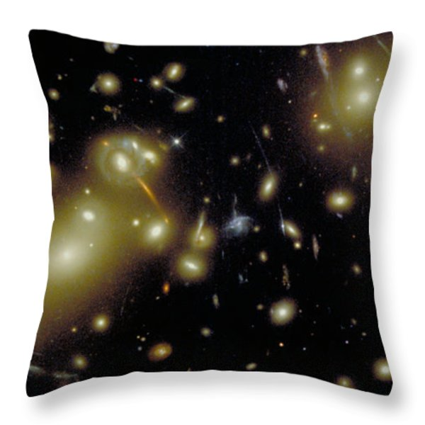 Cosmic Magnifying Glass Throw Pillow by STScI/NASA/Science Source