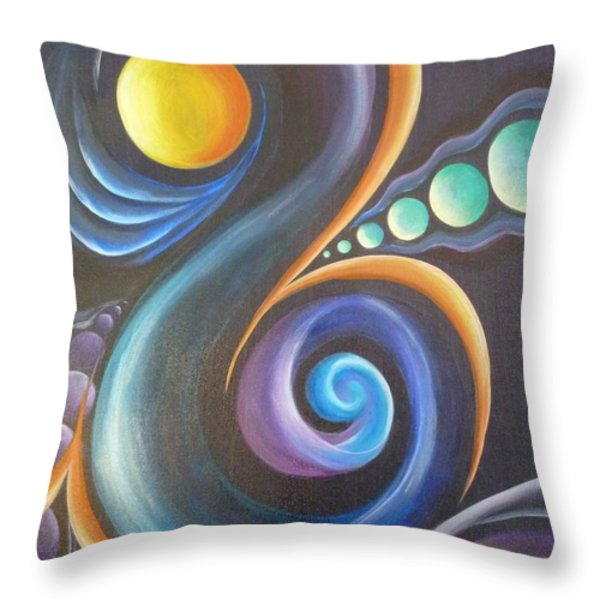 Cosmic  Throw Pillow by Reina Cottier