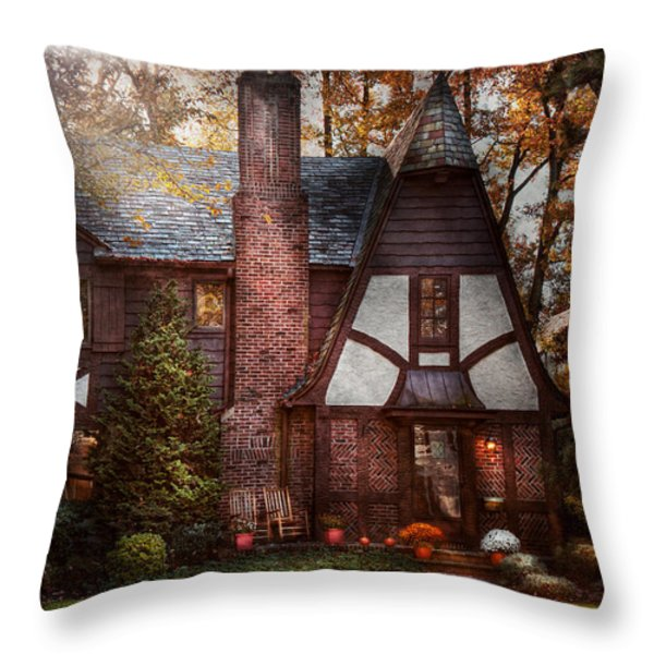 Cottage - Westfield NJ - A place to retire Throw Pillow by Mike Savad