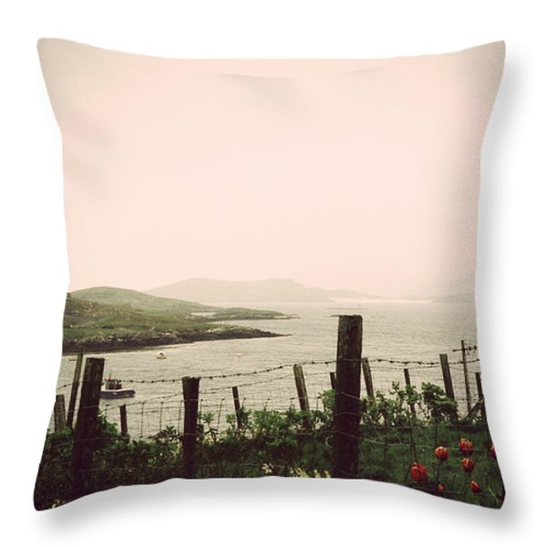 Cottage by the sea Barra Throw Pillow by Jasna Buncic